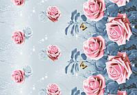 Ткань Роза - ночь большая