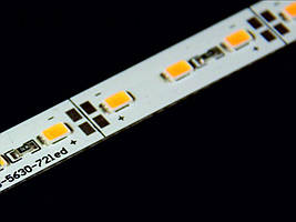 LED линейка 12V (1м) 72Led/m SMD5630 22W/m IP20 красный (BM)