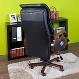 Кресло офисное с массажем. Для руководителя. Натуральная кожа, фото 2