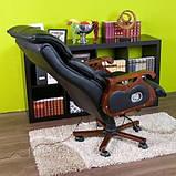 Кресло офисное с массажем. Для руководителя. Натуральная кожа, фото 3
