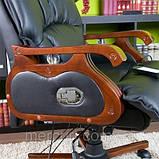 Кресло офисное с массажем. Для руководителя. Натуральная кожа, фото 5