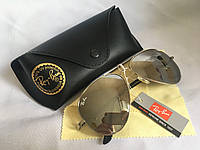 Солнцезащитные очки унисекс Ray Ban Aviator зеркало комплект