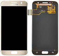 Дисплей (экраны) для телефона Samsung Galaxy S7 G930F + Touchscreen Original Gold
