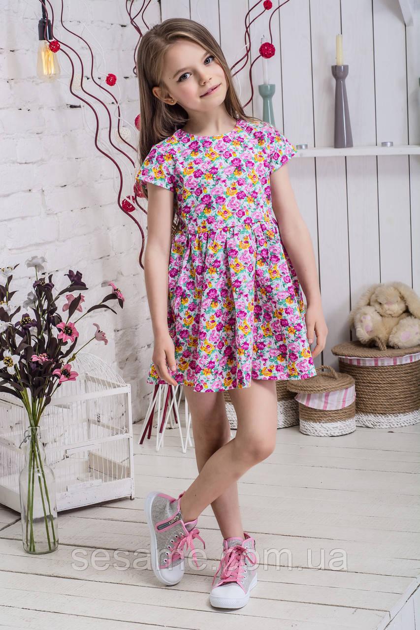 Платье для девочки с цветами детское Цветы