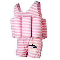 Купальник-поплавок Konfidence Floatsuits, Цвет: Pink Stripe. 4-5л.(FS02-4/5L)