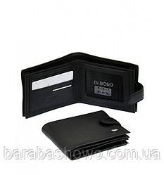 Мужской кошелек Classik кожа dr.Bond MS-2 black, кошелек удобный, с визитницей