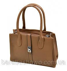 Сумка Женская Классическая иск-кожа 08-5 15193 khaki, сумка средняя, кофейного цвета