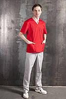 Красный хирургический костюм