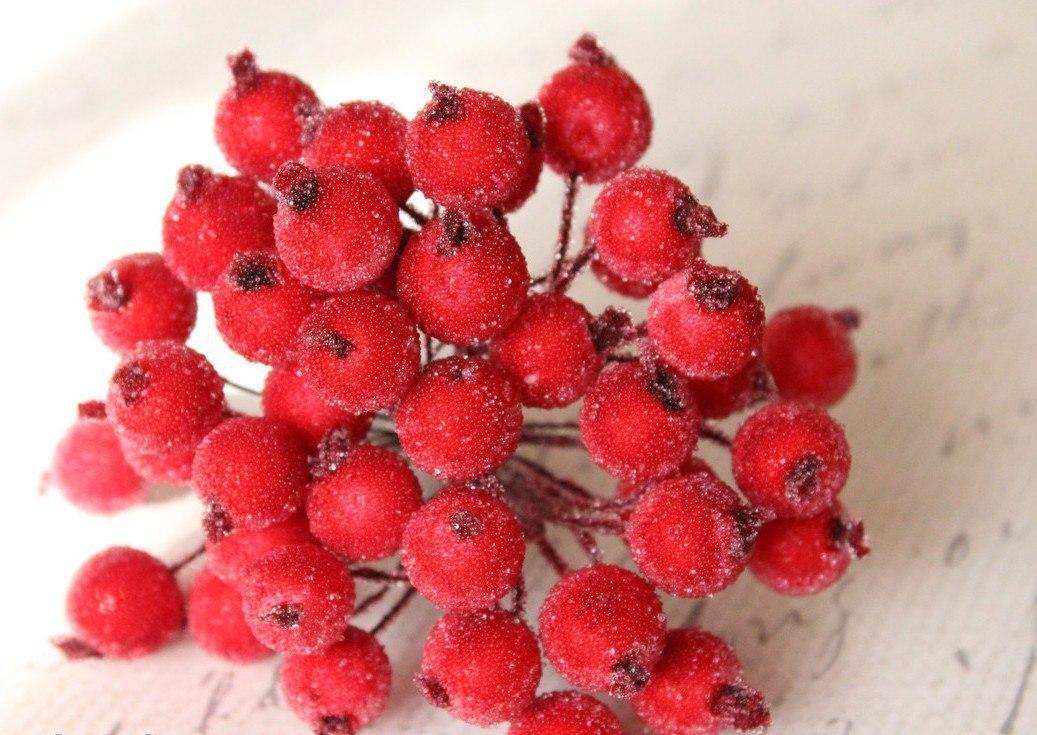 Сахарные ягоды красные 40 шт