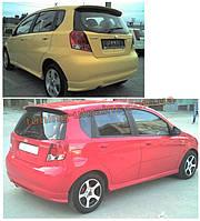 Спойлер под покраску на Chevrolet Kalos 2003-2008 хэтчбек