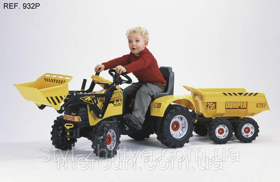 ВЕЛИКИЙ Трактор на педалі ДЛЯ ДІТЕЙ. ЕКСКАВАТОР