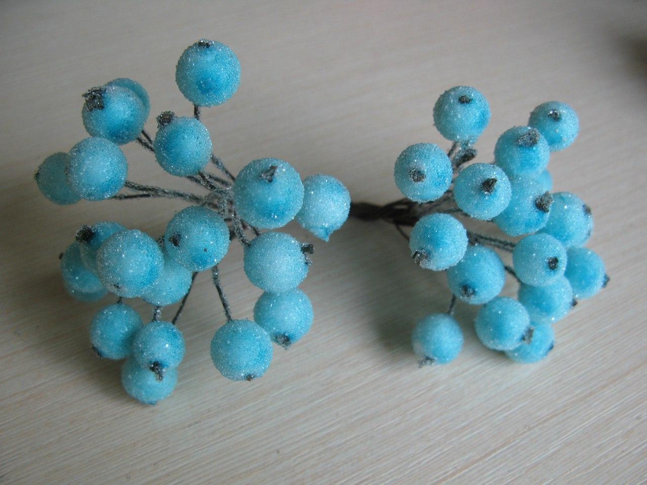 Бирюзовые сахарные ягоды 40 шт