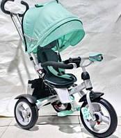 Детский трехколесный велосипед  CROSSER Т-503 AIR с фарой, бирюзовый