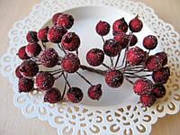 Сахарные ягоды бордовые (марсала) 40 шт