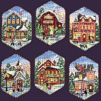 """Набор для вышивания крестом DIMENSIONS """"Рождественские украшения. Деревня"""""""