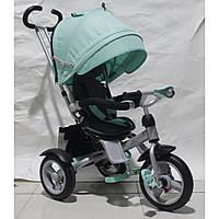 Трехколесный велосипед Crosser T-503 AIR мятный,свет,музыка