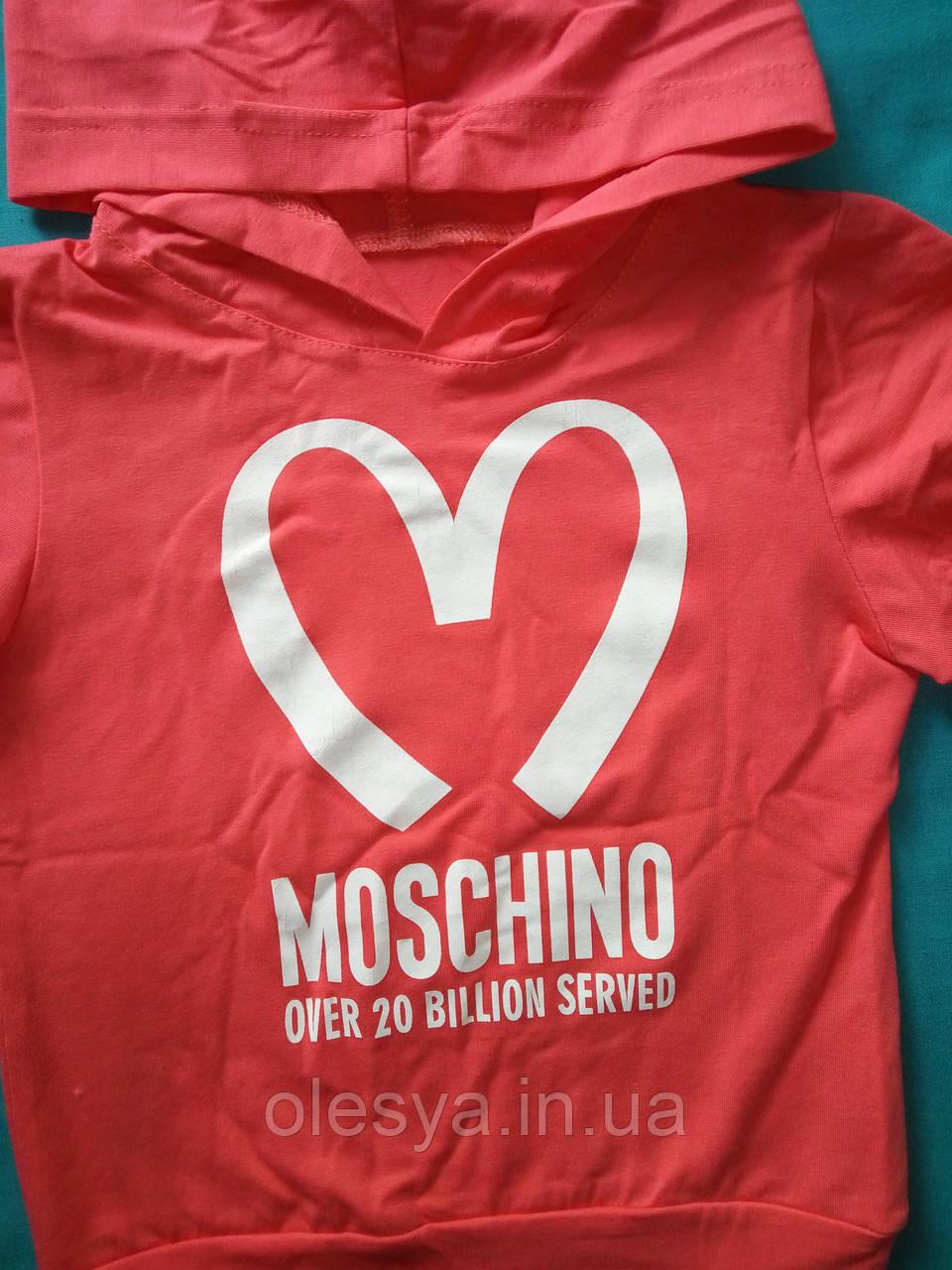 Летний комплект на девочку Moschino Туника бриджи Размер 110