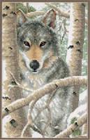 """Набор для вышивания крестом DIMENSIONS """"Зимний волк"""""""