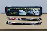 Хромированные накладки на задние стойки дверей для Mercedes W124 (85 - 95)