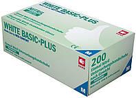 Перчатки нитриловые без пудры белые AMPri White Basic Plus 3,2г, 200 шт