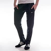 Мужские спортивные штаны в стиле Nike с карманами черные