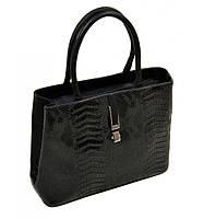 Сумка Женская Классическая иск-кожа 08-5 16219 black, сумка средняя, компактная