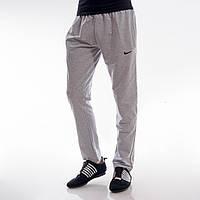 Мужские спортивные штаны в стиле Nike с карманами светло-серые M,L,XL,XXL