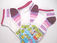 Разноцветные летние носки белые на девочку