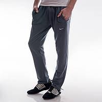 Мужские спортивные штаны в стиле Nike с карманами серые M,L,XL,XXL