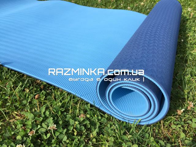 Профи коврик для фитнеса и йоги TPE+TC, коврик для фитнеса, коврик для йоги, йога мат, спортивный коврик, спортивный мат, коврик для спорта, гимнастический коврик, фитнес коврик, коврик для тренировок, каремат, коврики для фитнеса, коврики для йоги.