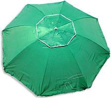 Зонт для сада, пляжа круглый 2,5 м с серебряным напылением + воздушный клапан цвета в ассортименте