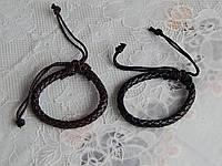 Мужской браслет кожаный плетенка