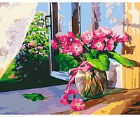 Летнее утро, Серия Цветы , рисование по номерам, 40 × 50 см, Идейка