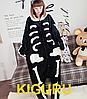 Пижама кигуруми скелет хеллоуин костюм
