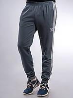 Мужские спортивные штаны Adidas серые с манжетами M, L,XL, XXL