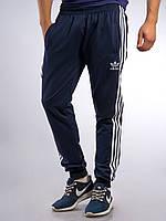 Мужские спортивные штаны Adidas синие с манжетами M, L, XXL