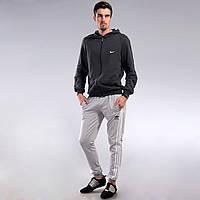 Мужские спортивные штаны Adidas светло-серые с манжетами M, L,XL, XXL