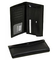 Кошелек Classik кожа dr.Bond M49 black, мужское портмоне, вместительный кошелек