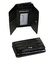 Кошелек Cossrol Женский иск-кожа WD-6 black, кошелек изящный, кошелек большой