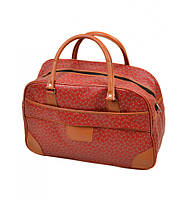 Дорожная сумка- Саквояж иск-кожа dr.Bond 6601-1 red, сумка на одну молнию, изящная