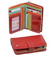 Кошелек Rainbow кожа dr.Bond WRS-3 red, кошелек яркий, модный