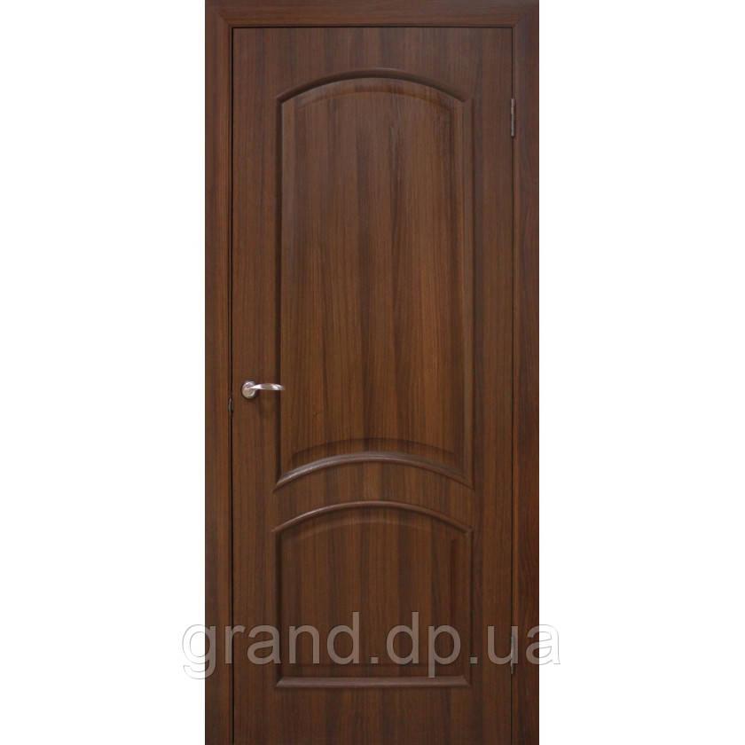 """Дверь межкомнатная """"""""Адель ПВХ"""" глухая, цвет  орех"""