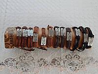 Браслет кожаный на руку со знаком зодиака