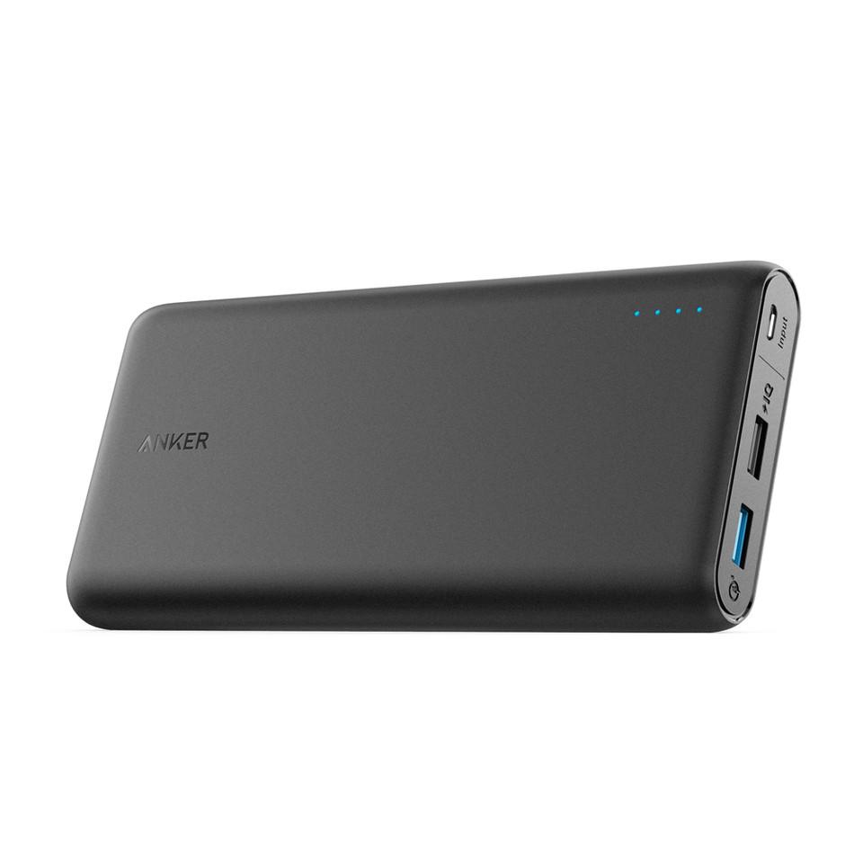 Портативное зарядное устройство Anker PowerCore 20000 mAh QC3.0 & PowerIQ V3 Black (внешняя зарядка телефон)