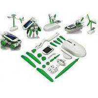 Іграшка-конструктор на сонячній батареї Robot Kids 6 в 1, Робот-трансформер, фото 1