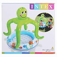 """Бассейн детский """"Осьминог"""" с навесом Smiling Octopus Shade Baby Pool 102*104см 57115"""