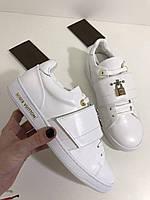 Крутые женские кеды Louis Vuitton белые новая модель