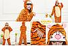 Костюм пижама из фланели кигуруми тигра, фото 2