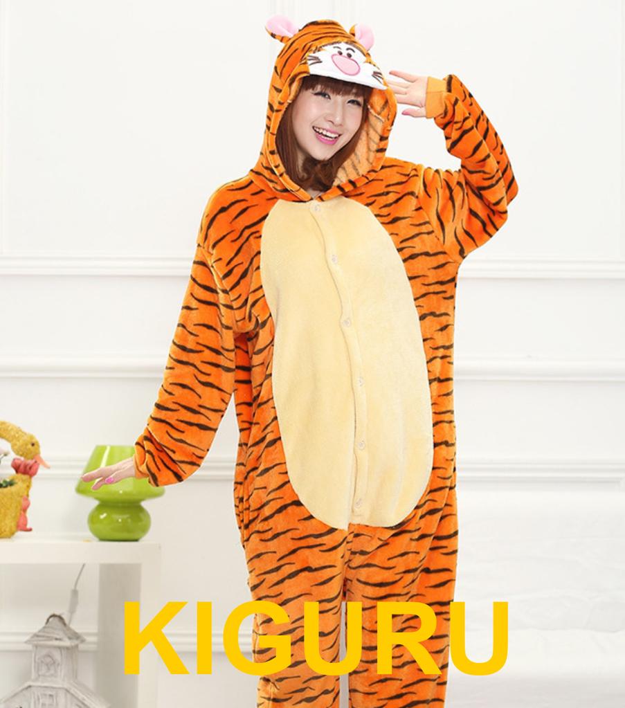Костюм пижама из фланели кигуруми тигра