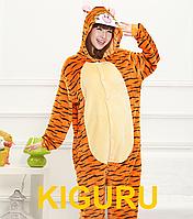Костюм пижама из фланели кигуруми тигра S (150-160cm)